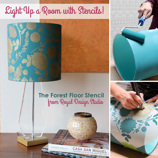 Stencil How To Stenciling A Lampshade Hometalk