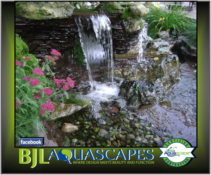 This small detailed pondless waterfall was the perfect fit for this backyard in Monmouth Beach NJ.