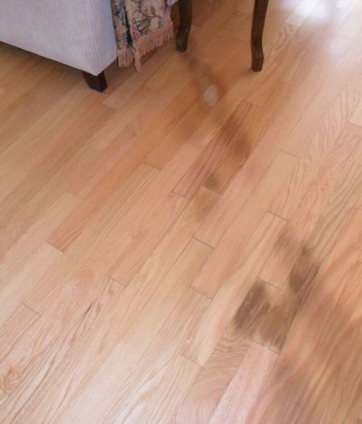 q inthis photo you can see what looks like burns in the hardwood floor, electrical, flooring, hardwood floors