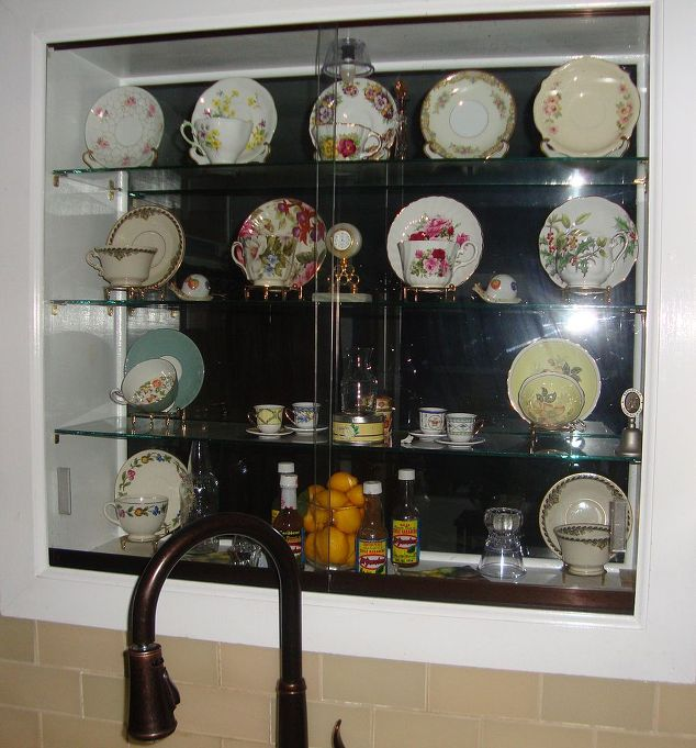 Lighted Kitchen Window Teacup And Saucers Curio Cabinet Doors Home Decor Design