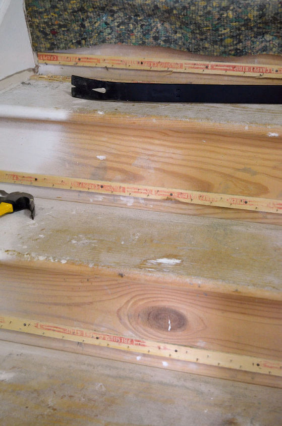 Bare wood underneath