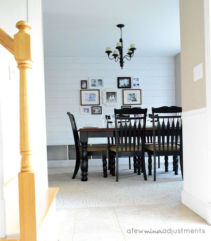 add character to a wall with wood planks, dining room ideas, wall decor, woodworking projects