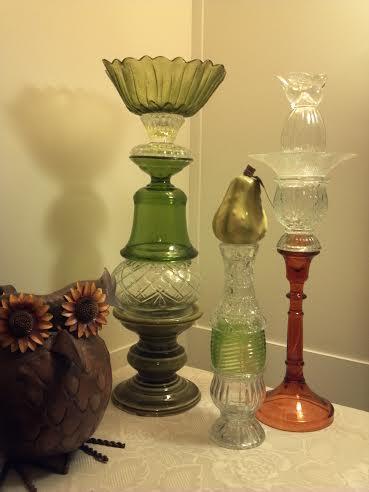 my glass, home decor, repurposing upcycling