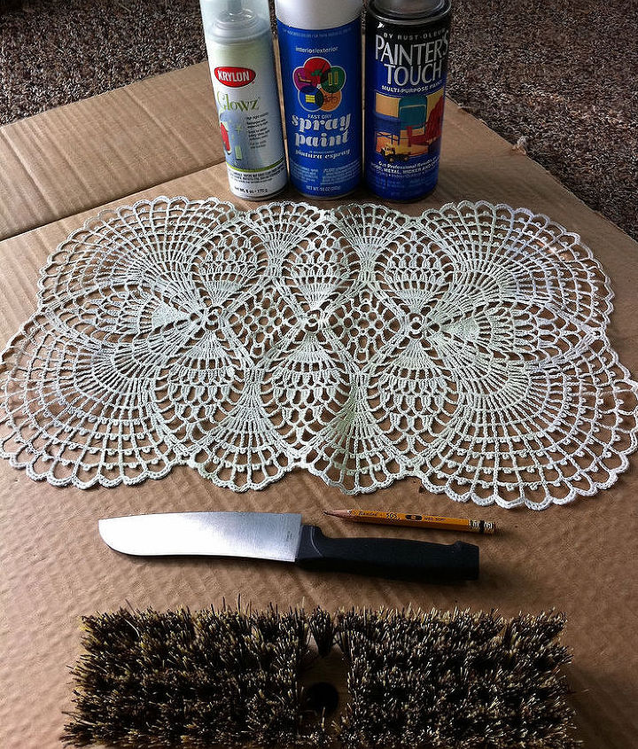 how to make lace like stepping stones, crafts, gardening, outdoor living, A few supplies you most likely have on hand and you re ready to begin