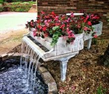 music in the garden, gardening, ponds water features, You can give a new life to that old and broken piano you have