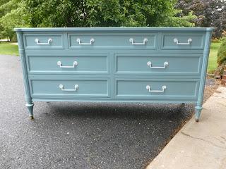 thrift store dresser, painted furniture
