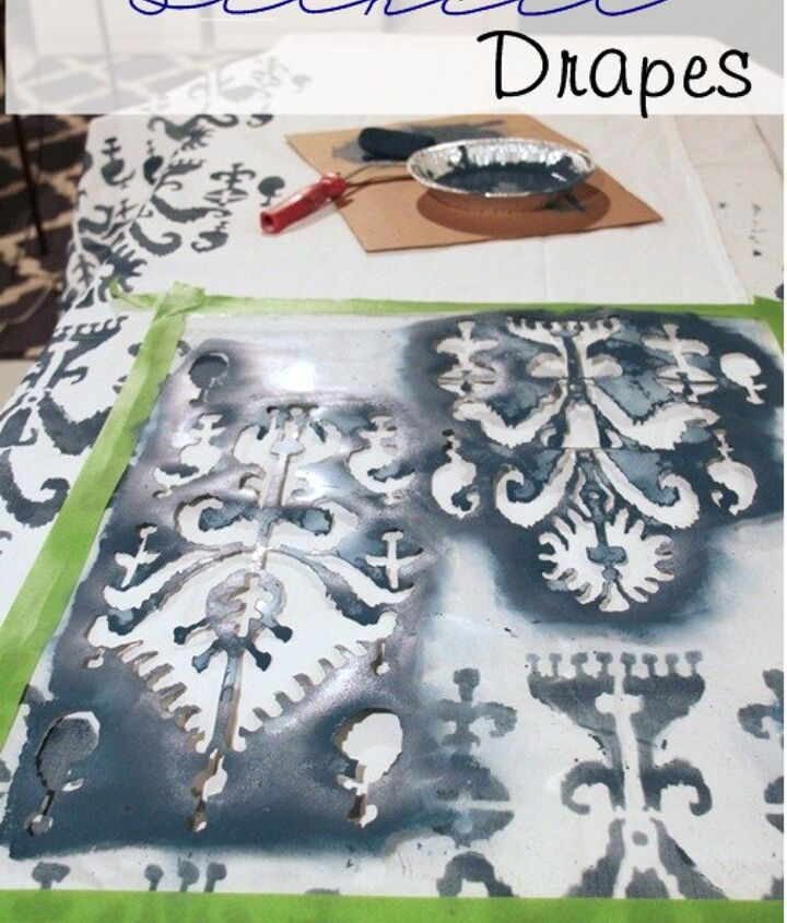 how to stencil drapes, crafts, painting
