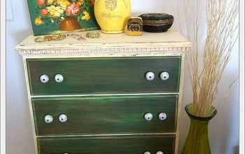 Thrifted Dresser Turned Shabby Chic