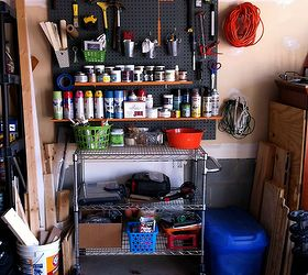 Garage Paint Storage, Cleaning Tips, Garages, Shelving Ideas, Storage Ideas,  ...