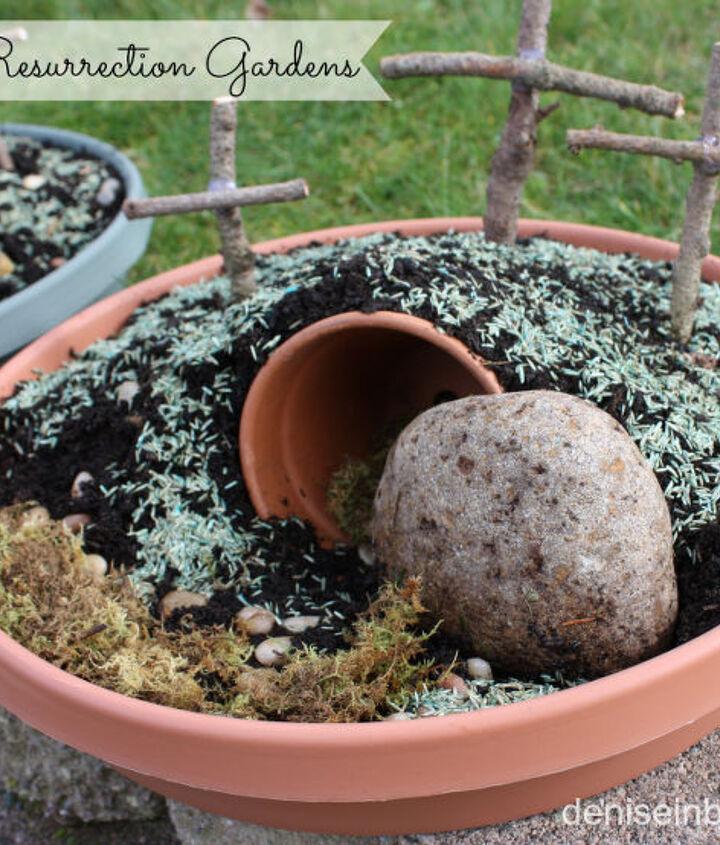 mini resurrection gardens for easter, gardening