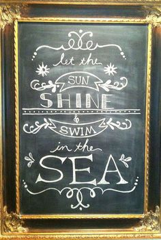 summer chalkboard art, chalkboard paint, crafts