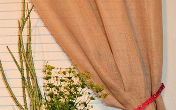 Make a No-sew Burlap Curtain