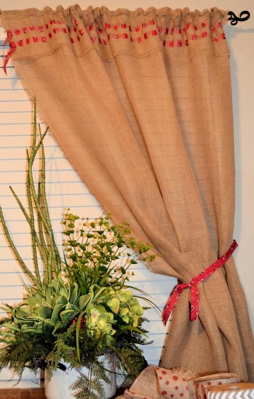 make a no sew burlap curtain, crafts, home decor, window treatments, windows