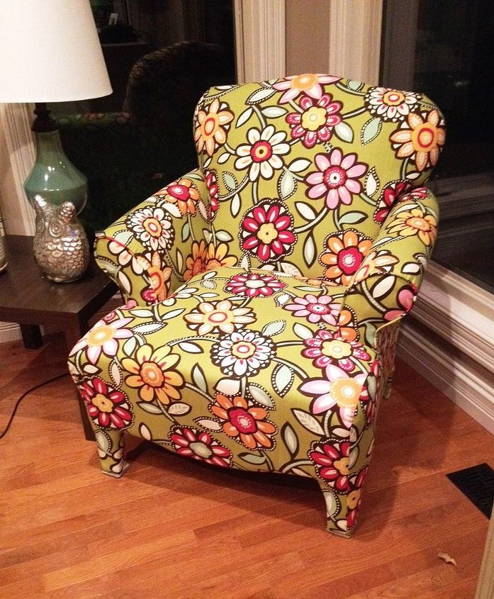 funky side chair, painted furniture