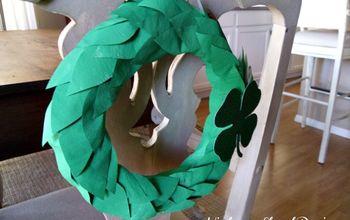 Emerald Isle DIY St. Patrick's Day Painted Newspaper Wreath