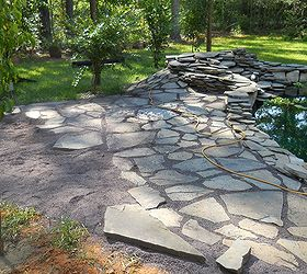 Amazing Flagstone Patio, Concrete Masonry, Outdoor Living, Patio, Ponds Water  Features, Pond