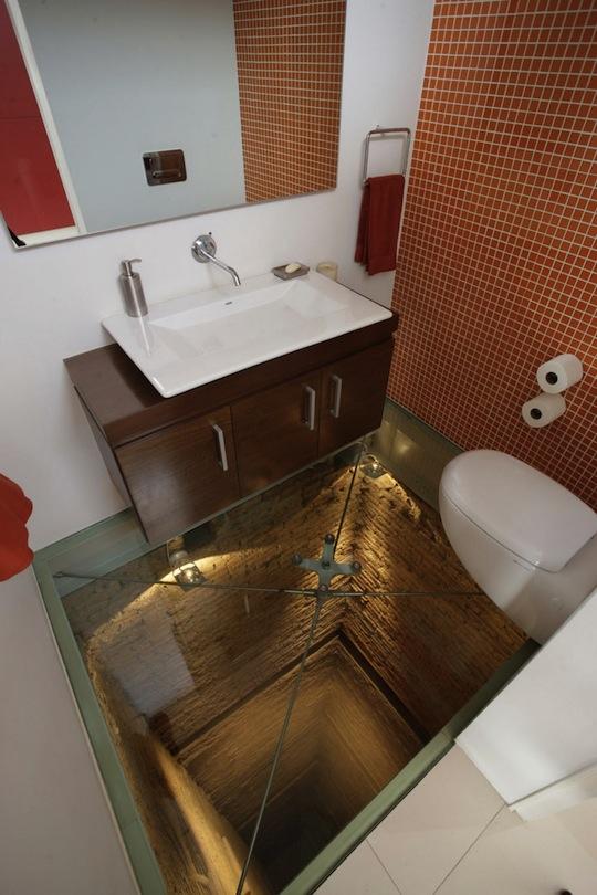 i cannot go in this bathroom, bathroom ideas, Elevator shaft powder room