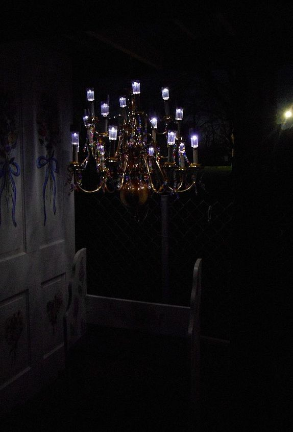 This is the arbor lit at nite-Just beautiful.