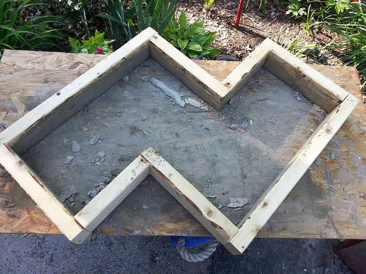 Superb Chevron Inspired Concrete Garden Bench Hometalk Evergreenethics Interior Chair Design Evergreenethicsorg