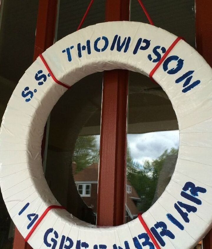 diy life preserver wreath easy nautical summer decor, crafts, home decor, seasonal holiday decor, wreaths