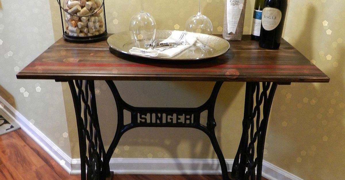 Singer Sewing Machine Table Hometalk