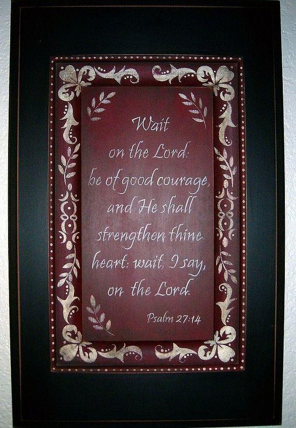 Wait Scripture Sign by GranArt