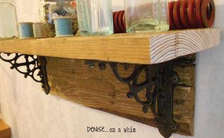 easy rustic pallet shelf, diy, pallet, repurposing upcycling, shelving ideas