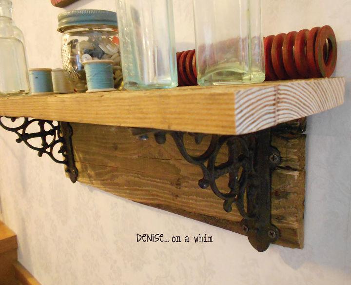 easy rustic pallet shelf hometalk