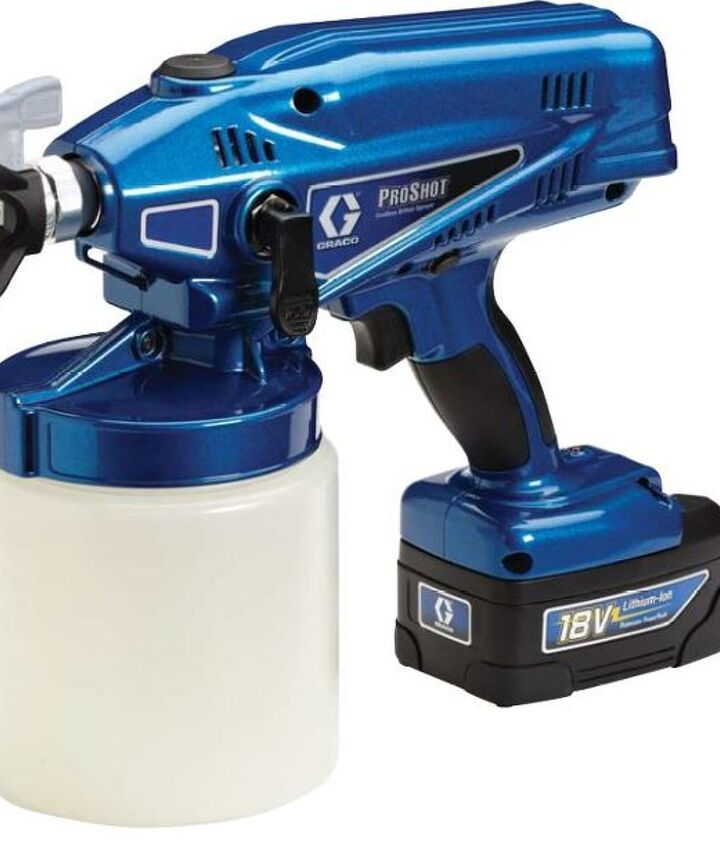 Pro Shot by Graco.  Available through Sherwin Williams