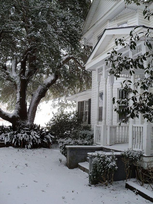 louisiana snow, outdoor living