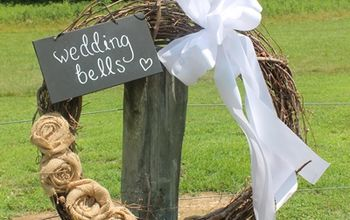 Grapevine Wreath Suitable For a Country Wedding