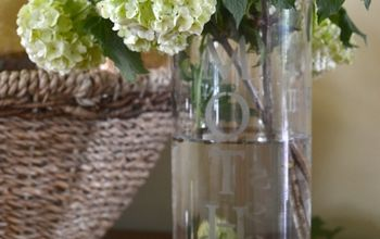 DIY Etched Glass Mother's Day Vase