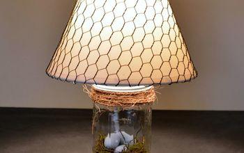 The Mason Jar Lamp: Rustic Spring Decor