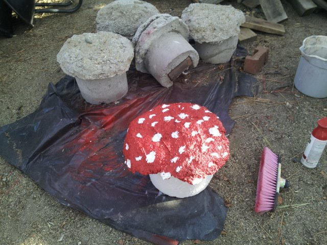 toad stools for the garden, gardening