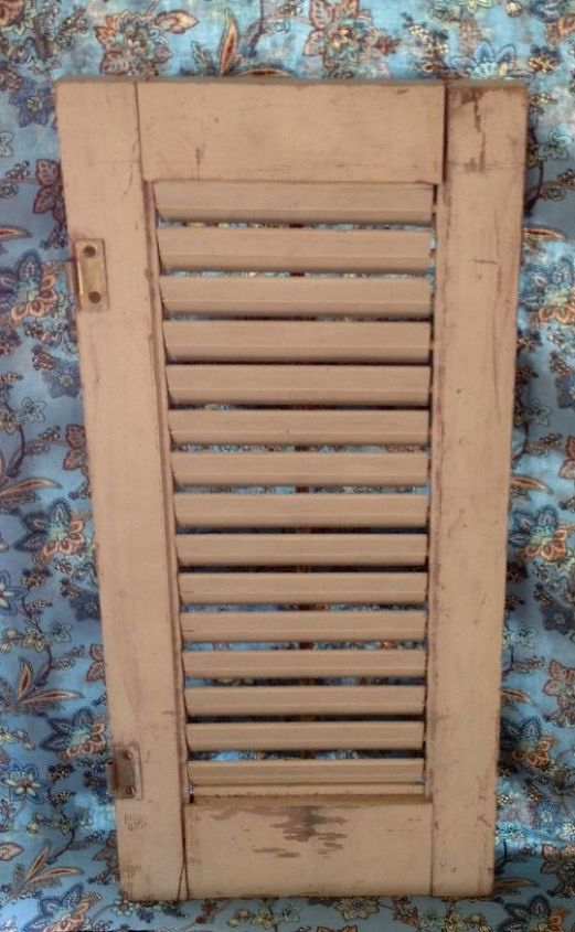 Need to re-purpose this small shutter for back deck.