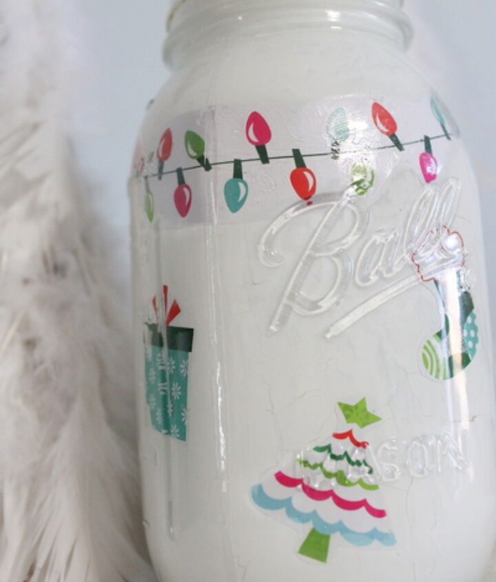 By applying your images and paint on the inside, the character of the mason jar can still shine.  http://www.thecountrychiccottage.net/2012/11/christmas-mason-jar.html
