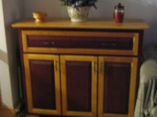 purple heart and birch cabinet, painted furniture, woodworking projects, all finished