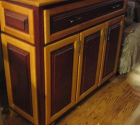 Purple Heart And Birch Cabinet, Painted Furniture, Woodworking Projects