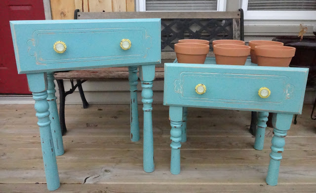 We assembled them and I painted, distressed,  and added fun knobs!