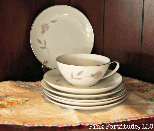 vintage china in a new hutch, home decor, painted furniture