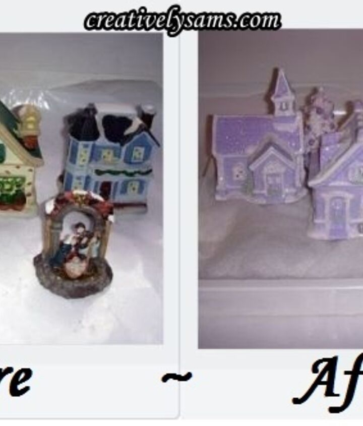 From Dollar Tree houses to a Shabby Chic Village/Vignette
