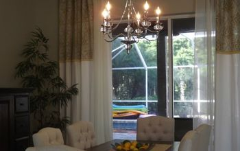 from the chandelier to the front door this room is done, dining room ideas, home decor, new chandy