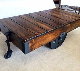 DIY Factory Cart Coffee Table Hometalk
