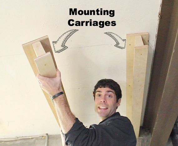 Mount the carriages