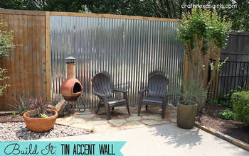 Tin Accent Wall- for the Backyard