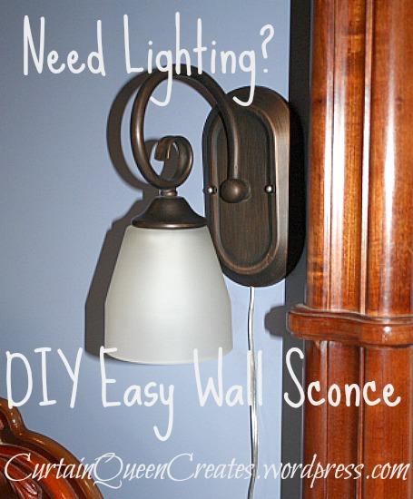 Need lighting diy easy wall sconce hometalk need lighting diy easy wall sconce electrical lighting easily change a wired wall aloadofball Choice Image