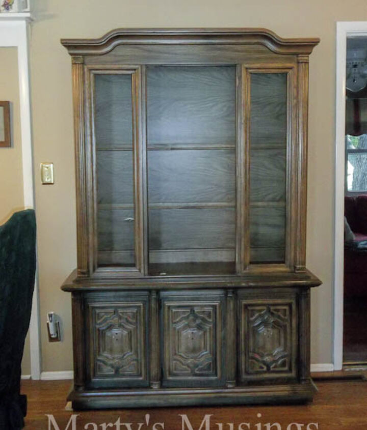 China Hutch before. Window and door have already been removed.