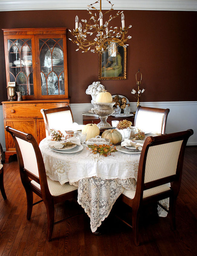 Tablescape in my Dining Room