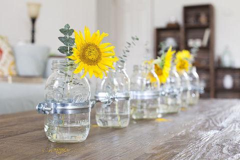 Diy Mason Jar Vase Centerpiece Hometalk