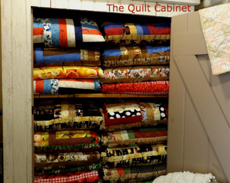My Quilt Cabinet holds finished Quilts for Sale...http://magictouchandhergardens.wordpress.com/2013/12/29/magic-touch-her-quilt-cabinet/